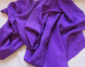 Silky Floral Jacquard in Purple 2 3/8 Yard