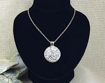 Silver Druzy Necklace - Druzy - Druzy Jewelry - Druzy Necklace - Drusy Necklace - Druzy Pendant - Necklace - Bridesmaid Gift - Jewelry