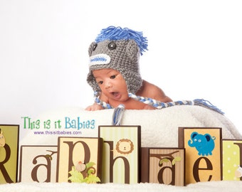 PHOTO PROP Baby Name Blocks . Block Letters . Safari Friends . Raphael . Personalized Blocks . Jungle Nursery Jungle Baby Shower