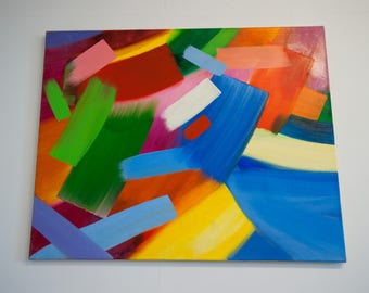 One of a Kind Original Large Abstract Painting On Canvas by Marusia