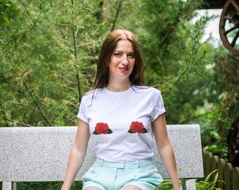 Boobs shirt / Boobs tshirt / Boobs t shirt / Boob shirt / Boob shirts / Tits shirt / Boobs t-shirt / Boob tshirt / Rose flower