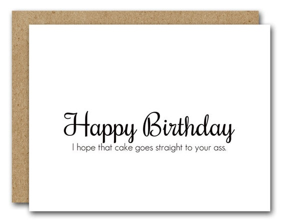 Funny Birthday Card Funny Card Instant Download Friend
