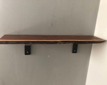 Black Walnut Live Edge Shelf (handmade)