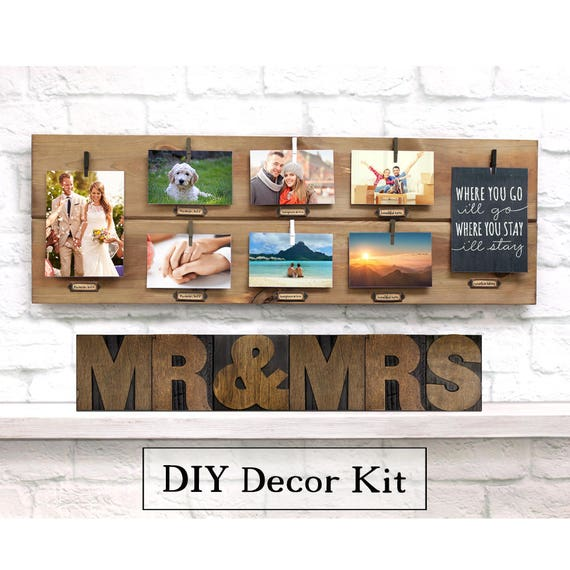 Diy Photo Display Large Wood Pallet Board Kit Mr Amp Mrs