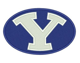BYU Cougars Embroidered Iron On Patch