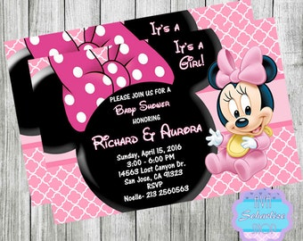 Minnie mouse baby shower invitations pink and gold minnie baby minnie mouse baby shower invitation minnie mouse invitation minnie mouse baby shower invitation filmwisefo