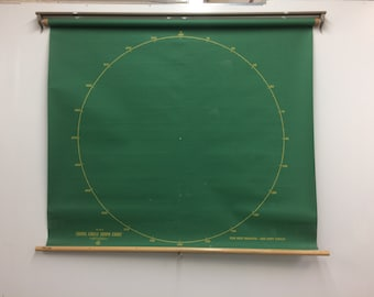 Scientific Crams Circle Graph Wall Chart - double sided graph chart and square graph chart