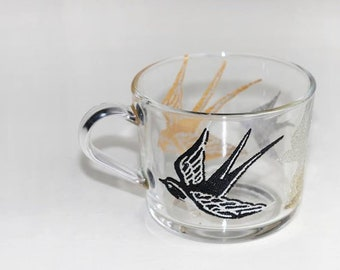 Unique hand painted cups, glasses etc.