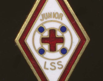 1920s American Red Cross, Junior Life Saving Service Enamel Badge