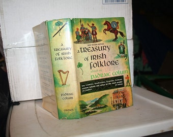 """Vintage 1972 """"Treasury of Irish Folklore"""" Padraic Colum!  Bonus Book 1961 """"It's the Irish"""" by Bob Considine"""