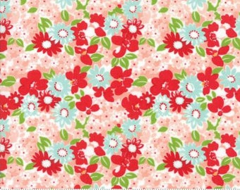 The Good Life Coral Flower Garden 55155 13 by Bonnie & Camille for Moda