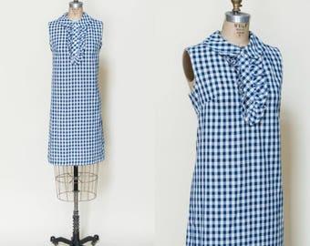 1960s Gingham Dress --- Vintage Mod Shift