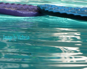 Zen Time-  Blue Teal Waters  Floating Peace Fine Art Photography - 8 x 10 Peaceful Healing Waters  Wall Art Home Decor