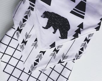 monochrome dribble bibs 3 pack