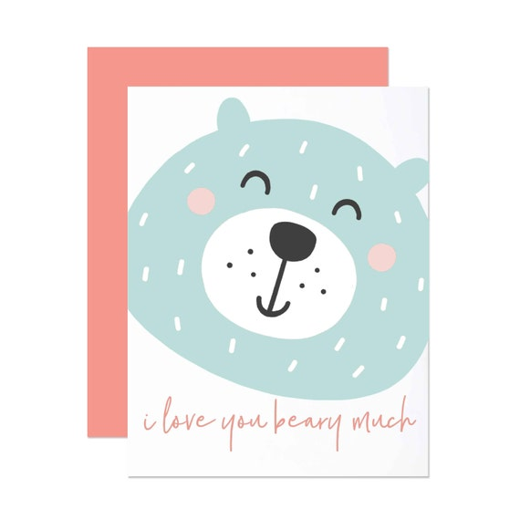 I Love You Beary Much - Anniversary Card
