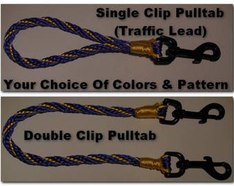 CUSTOM COLORS Pull Tab -- Single Swivel or Double Swivel Attachment -- Same thickness as other products