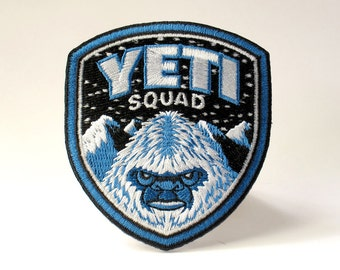 Yeti Squad embroidered patch
