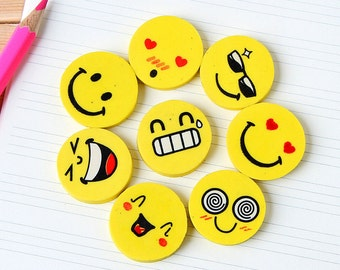 I Love Smile Erasers Set
