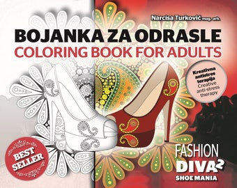 Coloring book for adults Shoe mania