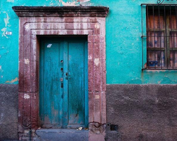 🔎zoom & Mexico Photography San Miguel de Allende Photo House Wall Door