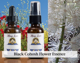 Black Cohosh Flower Essence, 1 oz Dropper or Spray for Healthfully Confronting Abuse and Healing From It