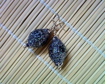 Chunky Black Glitter Earrings (1305)