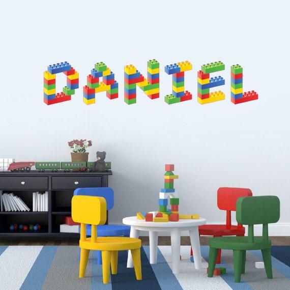 Personalised Name In Lego Building Blocks Childrens Bedroom
