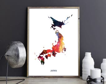 Japan Art Japan Wall Art Japan Wall Decor Japan Photo Japan Print Japan  Poster Japan Map