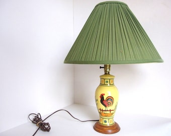 auction cozy little co radditude in ago bought rooster corner black kitchen perfectly of shade i this silent hes years my lamps nestled a at with lamp