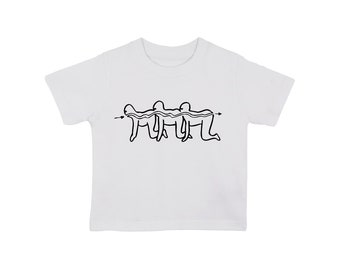 Human Centipede type 2 baby t shirt , various sizes, funny nerd