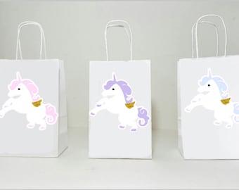 Unicorn Goody Bags, Unicorn Party Bags, Pastel Unicorn Favor Bags, Unicorn Party, Unicorn Birthday