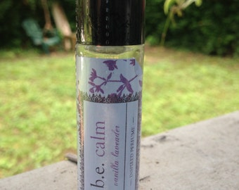 Vanilla Lavender Perfume made with Essential Oils, Boutique Perfume, Calming