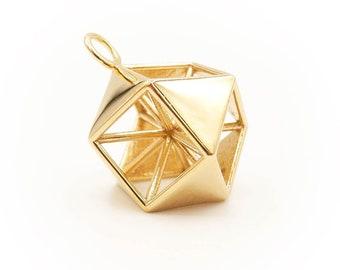Vector Equilibrium Pendant - Cuboctahedron - 3D Sacred Geometry Pendant