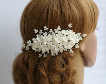 Lilac Flower headpiece, Wedding hair comb, Bridal hair comb, Bridal flower comb, Bridal headpiece, Bridal hair accessories, Wedding comb