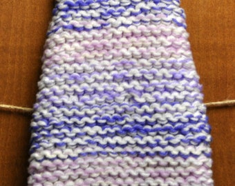 Knit Chunky Dog Sweater in Lavender Meadow - Size XS
