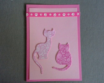 Breast Cancer Cat Card