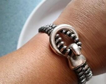 Recycled Zipper Loop Bracelet