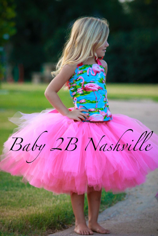 ?zoom & Pink Flamingo Costume Tutu Set All Sizes Baby 8