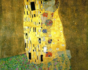 The Kiss, Klimt - Cross stitch pattern pdf format