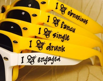 Bride to Bee Customized Sunglasses for Bachelorette/Bride/Bride to be/Girls/Bach weekend