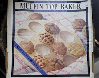 Vintage Muffin Baking Stone Muffin Top Stoneware 1997 Sassafras Superstone Stone Pan Bakeware Made in USA