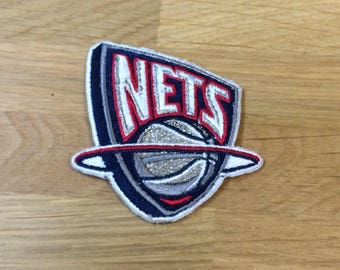 New Jersey Nets NBA Basketball Team Logo Patch | Logo Embroidered iron on Patch | patches | jacket patch | Jeans Patches