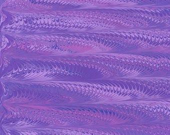 Hand Marbled Paper 19x24 (Purple Haze)