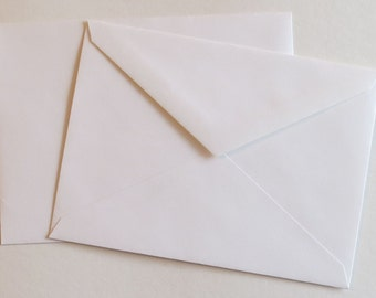 PPE46  Qty. of 50 A6 70 lb. White Paper Envelopes 4 3/4 x 6 1/2 (12.07cm x 16.51cm)