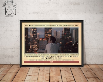 HER Poster - Quote Retro Movie Poster - Movie Print, Film Poster, Wall Art, Spike Jonze Print