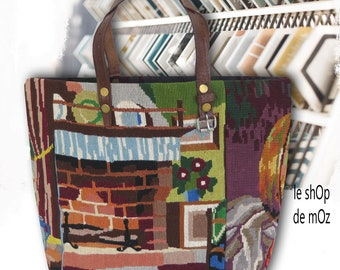 Tapestry Tote Bag, Needlepoint Purse, Still Life : Le Georgia