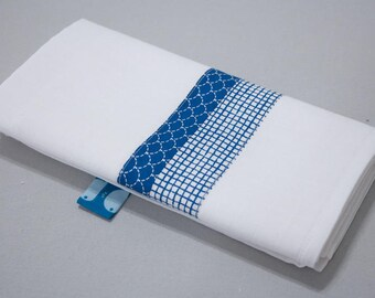 "Small Swaddle ""Calf"" - blue scales & blue tiles"