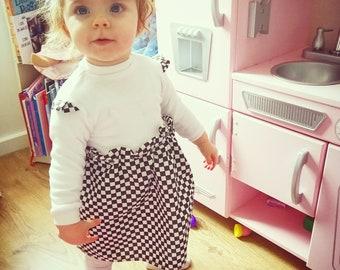 Black and white checkerboard dress