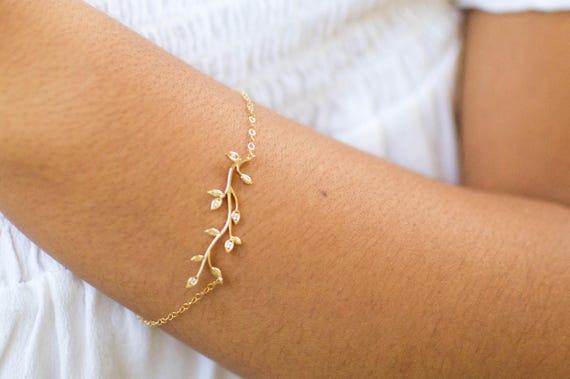 Tree Bracelet Gold | Bracelet Family Tree | Family Tree Bracelet | Delicate Gold Bracelet | Bridesmaid Gift | Nature Lover Gift