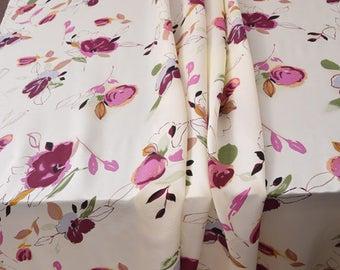 Splendid Floral Silk Fabric, Imported.